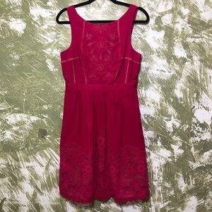 Moulinette Soeurs Anthropologie Pink Eyelet Dress